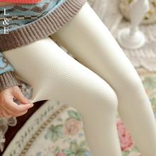 秋冬款微压力裤竖条纹加绒肉色连裤袜中厚踩脚打底裤加厚女丝袜子