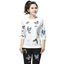 品牌大码女装2017韩版秋季新款时尚两件套长袖休闲运动女套装秋潮