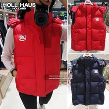 查看韩国专柜代购 HOLL HAUS正品 大嘴猴无袖连帽马甲 时尚百搭最新款