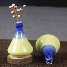 琥钧个性创意客厅壁柜家居装饰摆件陶瓷迷你水培小花瓶手工花器