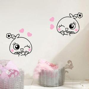 创意DIY卡通动物贴纸 墙贴儿童房衣柜兔子随心贴 开关贴厨房贴画-款