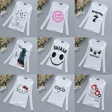 查看9.9包邮秋季韩版女装长袖学生印花T恤女士打底衫秋衣外穿上衣体恤