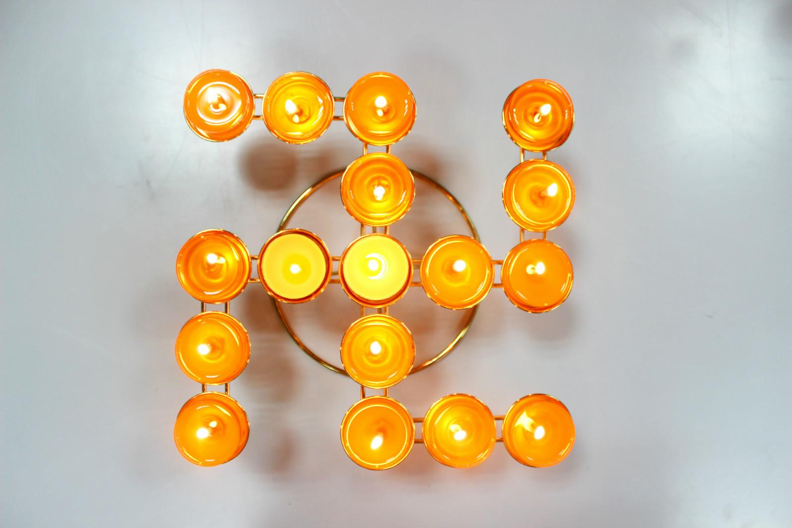 佛教用品包邮万字酥油灯架17灯供品法器供灯功德光明灯长明灯佛灯图片