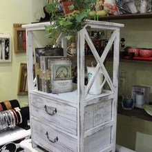 查看地中海斗柜床头柜 田园实木储物柜收纳柜 展示柜阳台柜子