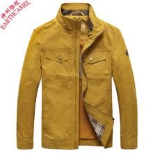 神州 骆驼夹克男外套薄款立领jacket中年男士商务休闲男装秋季潮