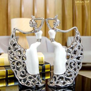孔雀舞女电视柜摆设简欧式创意家居工艺品客厅装饰品摆件结婚礼物图片