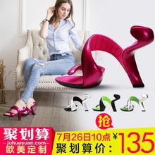 查看ocandy原创品牌 李小璐同款2015夏季新品无底高跟鞋 女凉鞋婚鞋