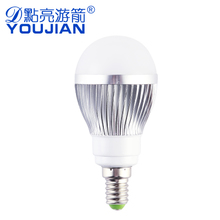 E14小螺口 3W led球泡灯室内照明节能灯高亮暖/白光节能省电光源