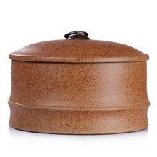 谱茗 普洱茶叶罐手工紫砂罐宜兴密封紫砂缸七子饼存茶罐大号特价
