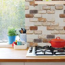 浴室瓷砖贴厨房灶台铝箔防油烟贴纸耐高温砖纹卫生间阳台防水墙贴