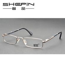 新款万宝龙眼镜架 镜框笔夹时尚潮男士全框金属金色MB448