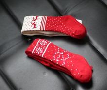 查看秋冬女童装圣诞节款加厚保暖裤袜宝宝连裤袜精梳棉婴儿连体袜毛圈