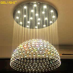 约LED客厅大吊灯餐厅吊灯复式大厅别墅水晶灯长吊灯吊线灯价格: