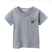 儿童短袖T恤 2017夏季新款圆领韩版宝宝上衣童装 短袖T恤