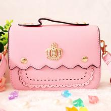 查看韩版可爱女童糖果色时尚经典皇冠亮钻手拎包斜挎包单肩包儿童包包