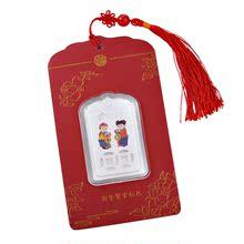 maomao压岁钱银币吊坠S99足银利是封红色高档送礼收藏钱币