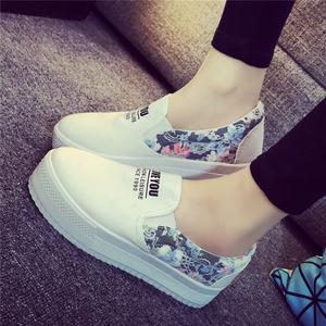 2015秋冬帆布鞋女韩版一脚蹬懒人女鞋厚底休闲学生布鞋平底板鞋潮