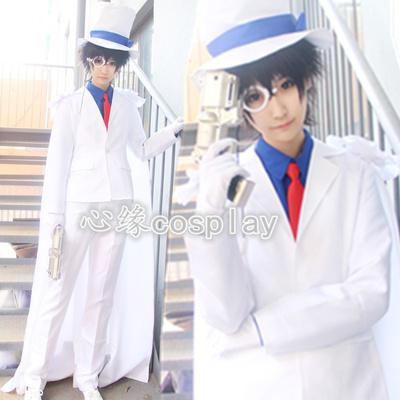 现货 名侦探柯南cos服 成人儿童怪盗基德衣服 cosplay服装日常服