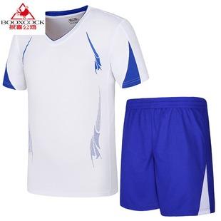 报喜公鸡2019新款夏季新款T恤短裤运动套装男夏运动休闲跑步两件
