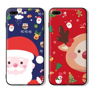 圣诞节iphoneXsMax手机壳可爱卡通圣诞老人苹果6s防摔7plus软壳女