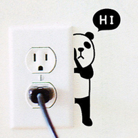 Hi Switch Sticker Cute Panda seckill special offer decorative wall stickers stickers YAVON switch socket