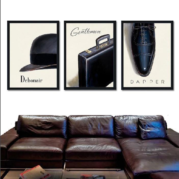 z-fz046550簡約黑框單幅價格30*40服裝店男裝壁畫試衣間衛生間裝飾畫現代簡約高跟鞋個性創意掛畫