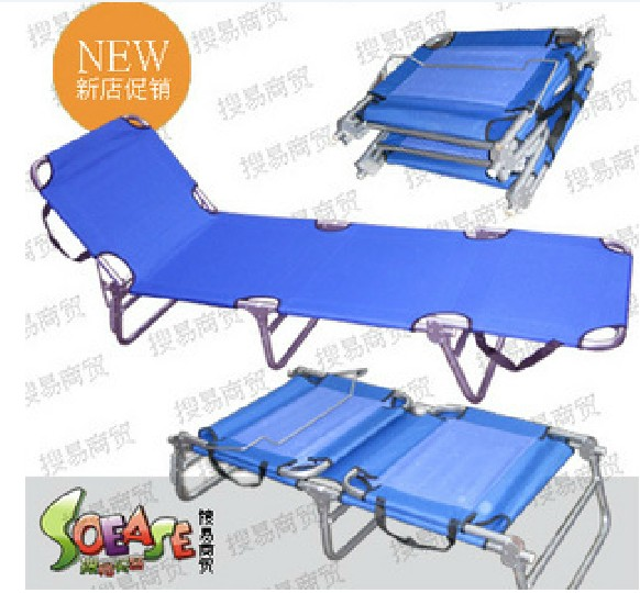 Portable folding steel bed single bed / fold bed / four / bed / bed / cot bed lunch / beach bed