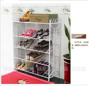The new European iron shoe multi modern family utility door shoe airing shelf rack slippers special offer