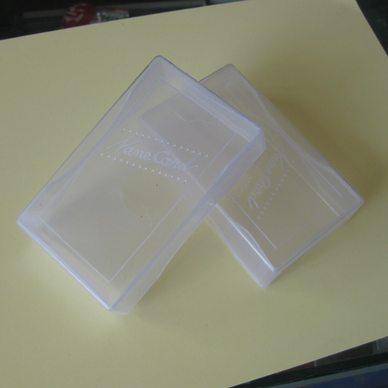 - öppna kort - kort får en låda lite papper limmas visitkort vita fält för sortering av plast