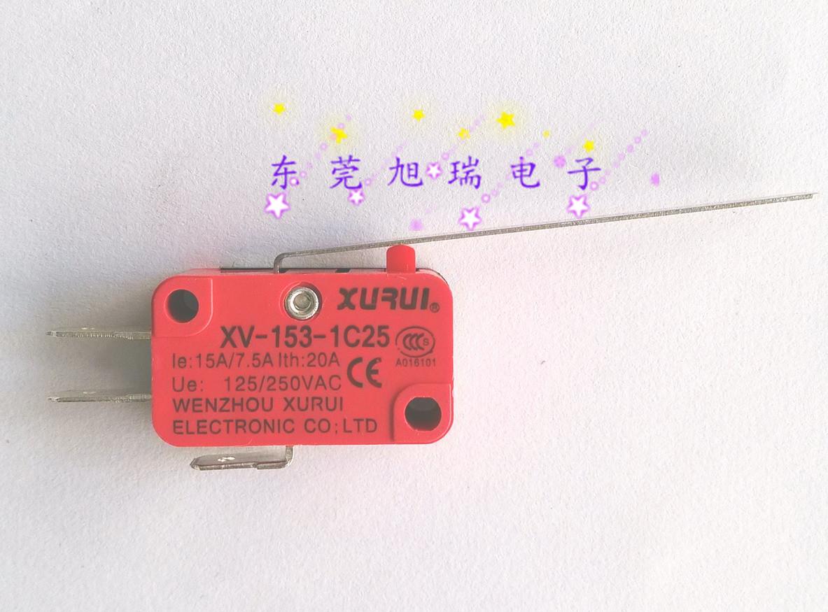 本物【XURUI旭瑞」マイクロスイッチXV-153-1C25銀接点