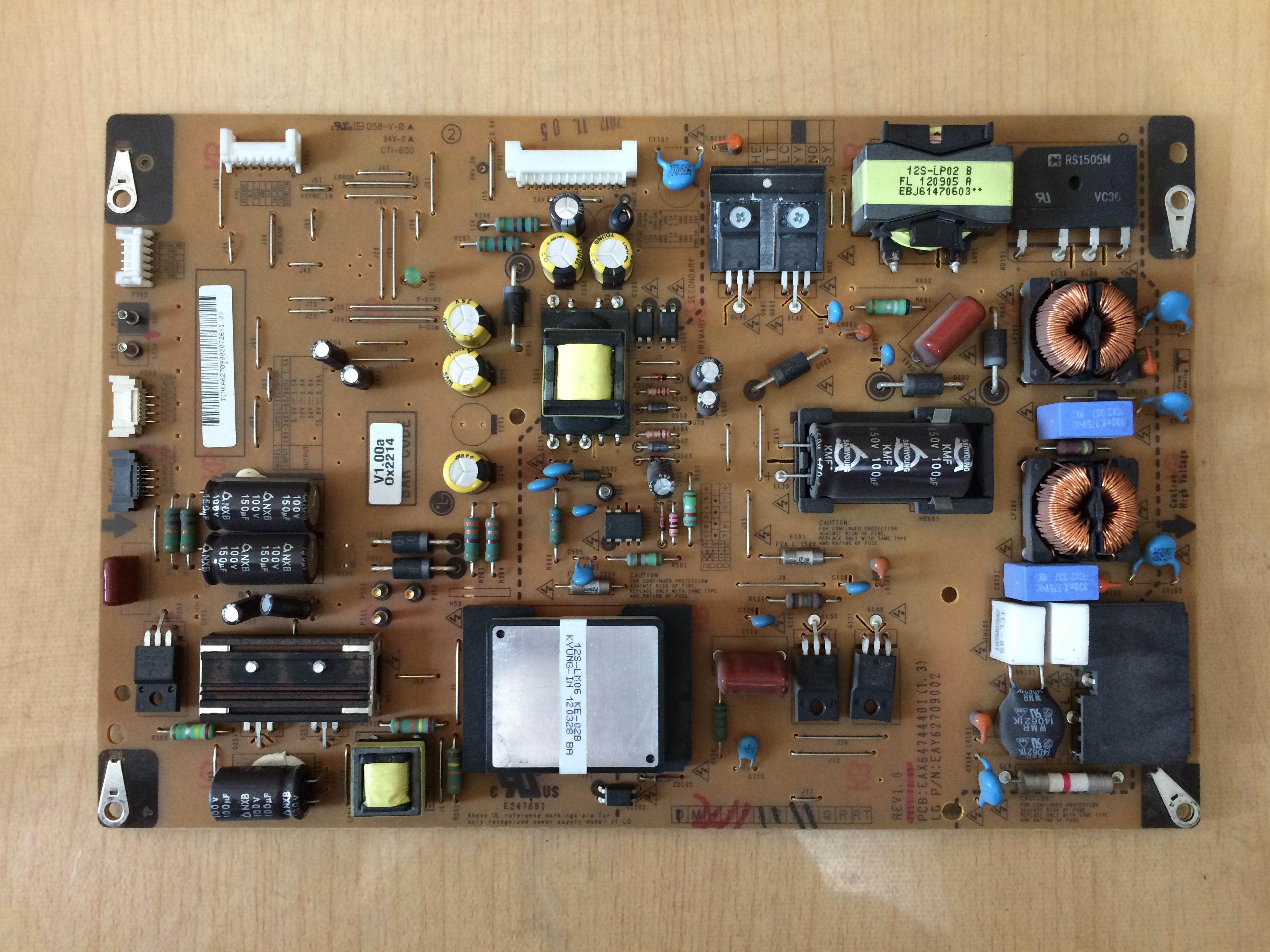 LG LCD - TV 55LM6700-CE Power Board LGP55L-12LPB-3PEAX64744401