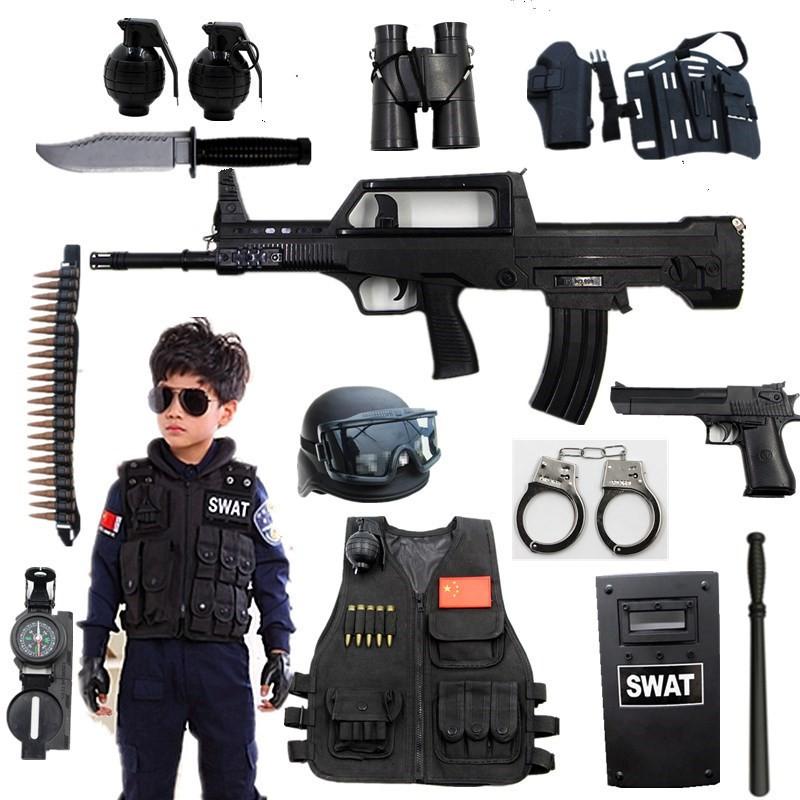 акустооптический детей электрический очередей 4-7-9-11 лет мальчик маленький игрушечный пистолет костюм небольшой полицейский спецназ оборудования одежду