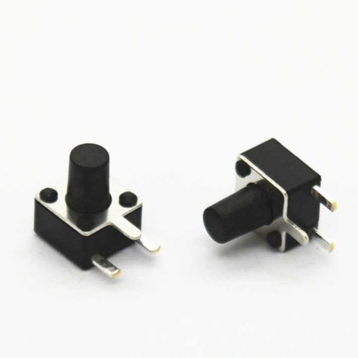 (50) side by touch switch 4.5x4.5x6mm high 4.5*4.53 foot microswitch button