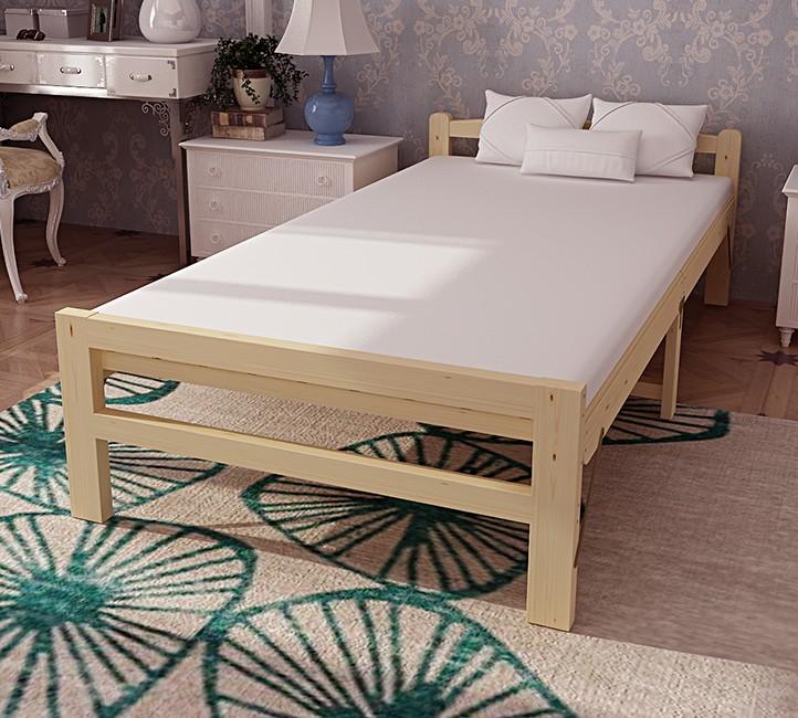 El doble de gente simple cama cama plegable hoja de bambú siesta de 1,2 metros de refuerzo de madera tipo cama cama adultos.