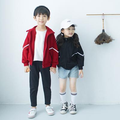 兄妹装外套植木2018秋季新款儿童洋气上衣男童运动休闲姐弟装潮