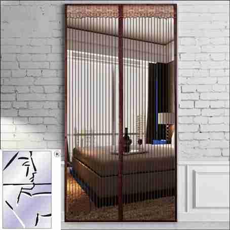 La cortina de tela repelente de mosquitos en verano coreano magnético de la Princesa el dormitorio, Sala de estar contra el mosquito doméstico coreano cortina cortina