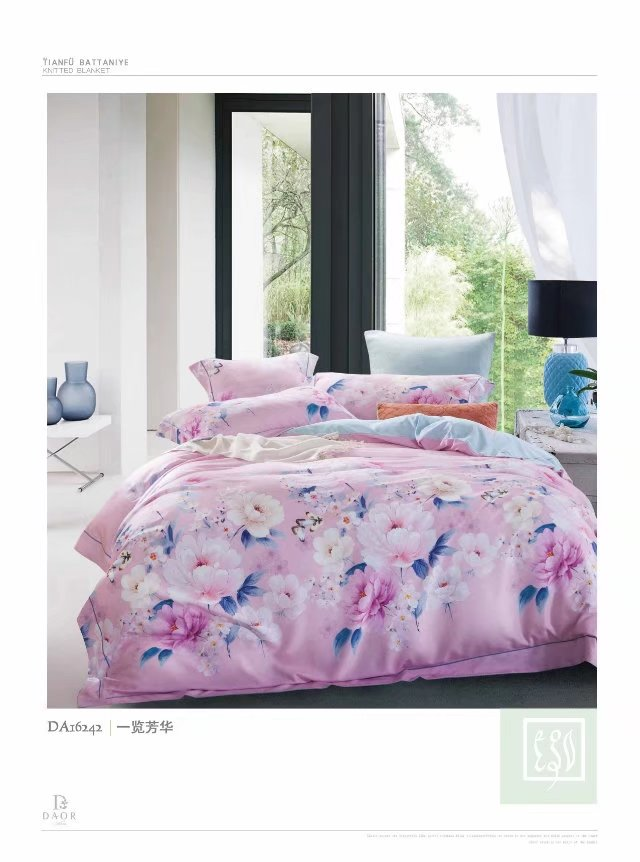 Manufacturers selling high-end bedding 60 double-sided sanding Tencel super soft velvet warm up four piece on youth
