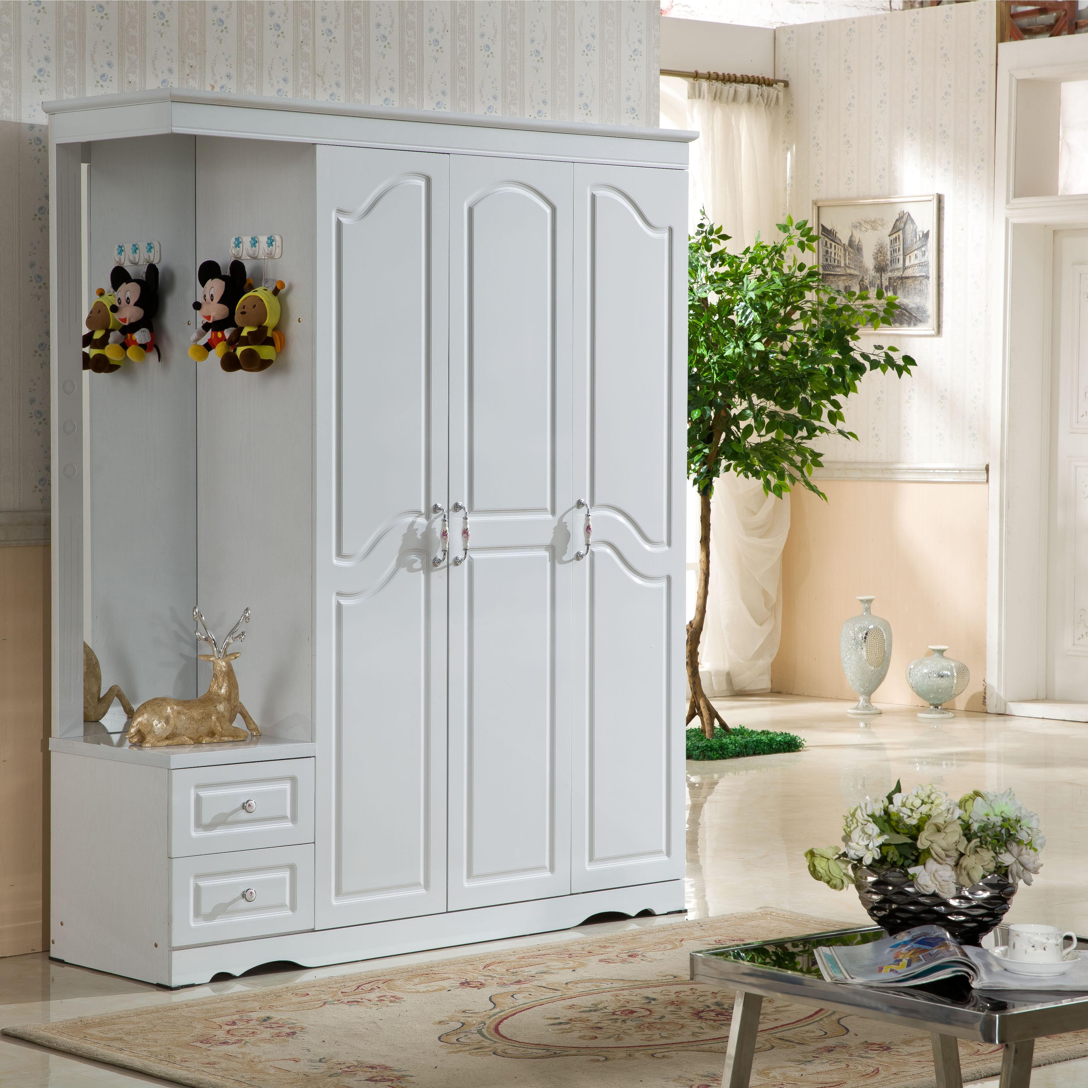La matière solide simple et moderne combinaison chambre monobloc commode de meubles 34 quatre portes coréen de placard de personnalisation