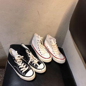 实拍 实价韩国街拍万年经典款百搭复古高质量黑色高帮帆布鞋女