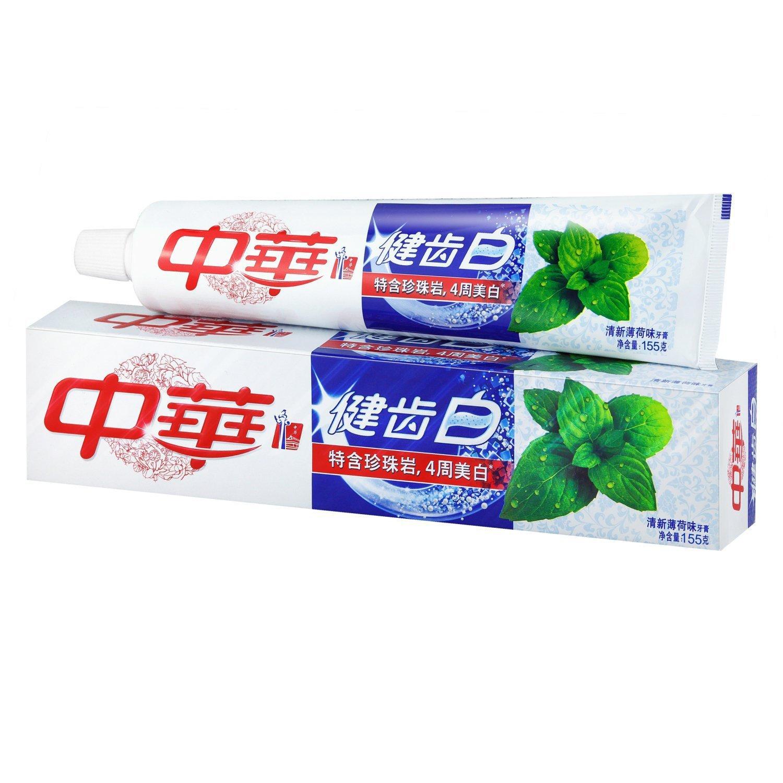 ægte kinesiske tandpasta frisk mynte smag 155g kinesiske glister tandpasta 155g