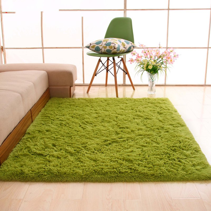 Home bedroom mat long silky hair thick tatami hotel living room carpet shop with bedside Hall