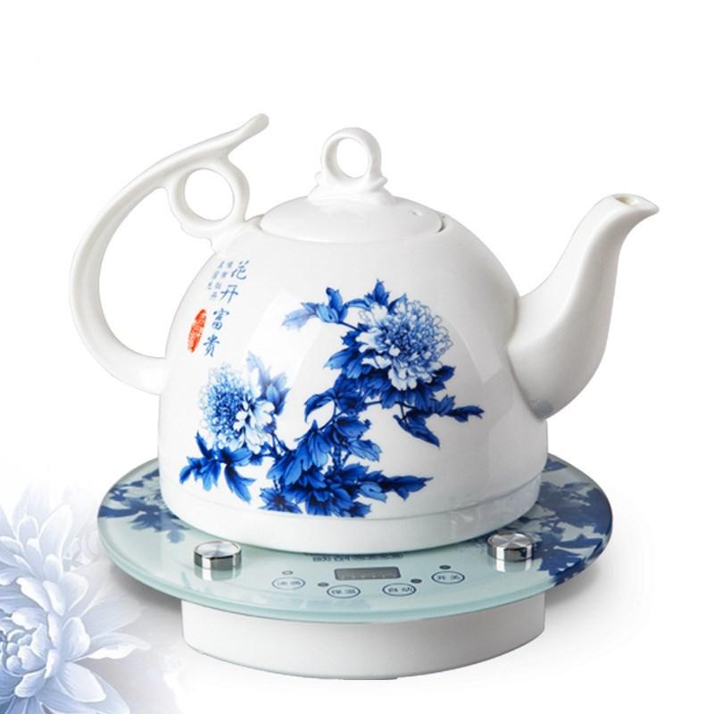 El hervidor de agua de hervir hervidor de agua de té de cerámica porcelana hervidores de agua de la tetera de apagado automático de aislamiento eléctrico.