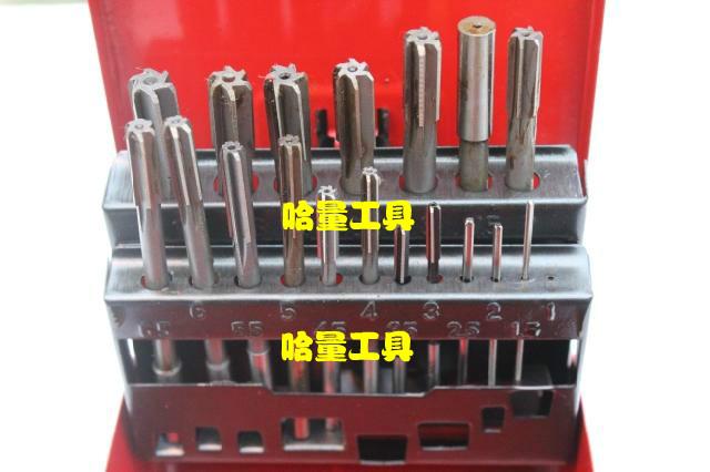 Shanghai high speed steel straight shank machine reamer, non standard reamer 19PC19 piece sleeve 1.0-10.0*0.5mm set