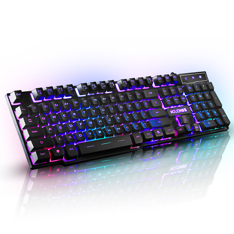 Mechanical keyboard feel cherry black shaft green notebook computer desktop cable game 2108s2 game keyboard