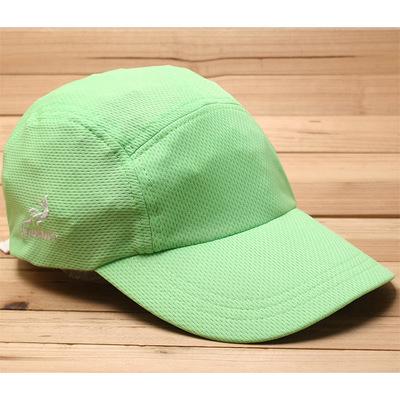 超轻速干光身纯色荧光绿户外遮阳运动帽铁人三项慢跑马