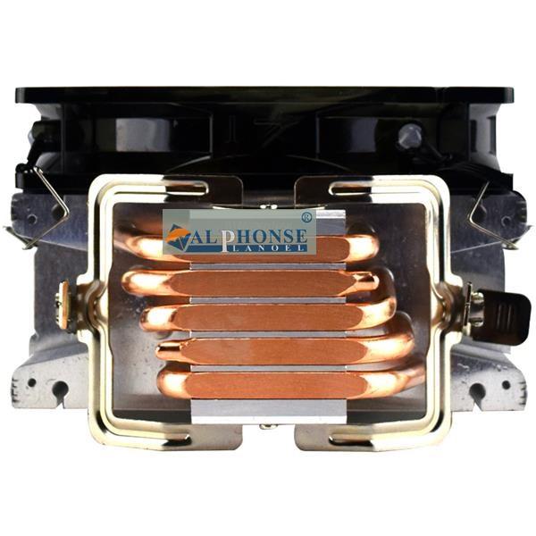 jumătate din radiator 5 x5cpu control inteligente pentru computerele de birou, fani emițătoare de lumină