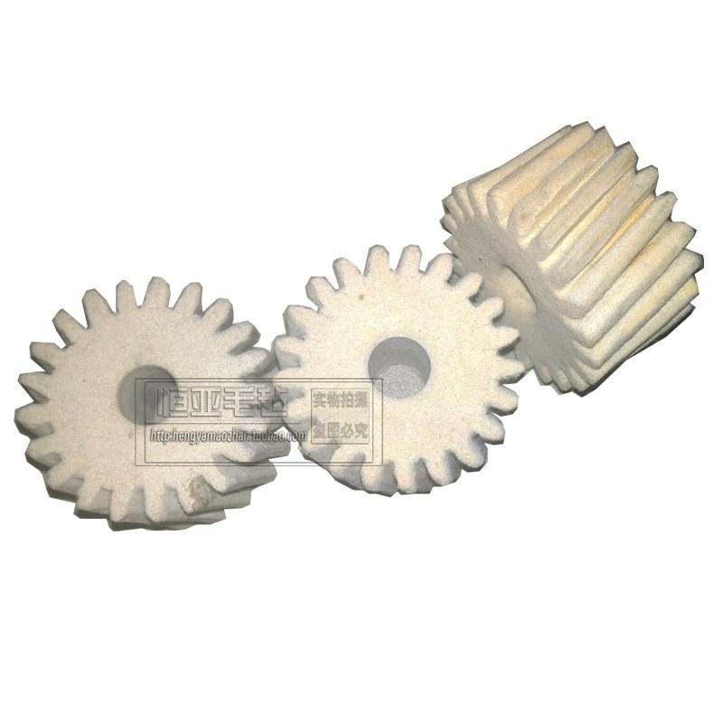 Felt gear, spur gear, helical gear, cylindrical gear, mechanical hardware, constant felt