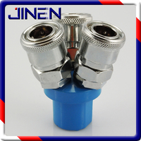 [refined] round three pass SMY C fast joint self-locking type three way Trident pneumatic joint