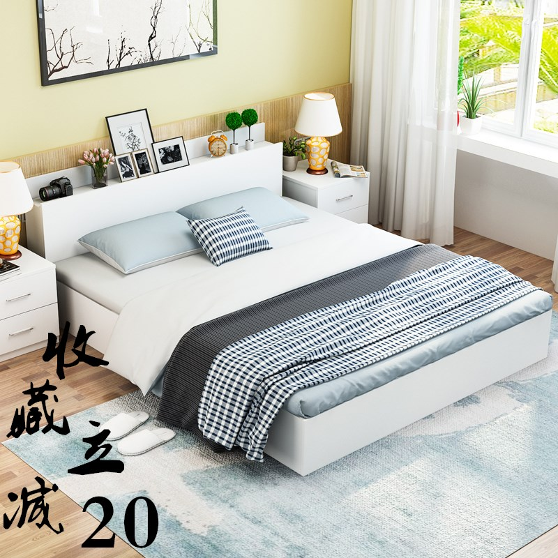 2017 simple modern double bedroom Japanese tatami bed Zhuwo adult wood storage type bed