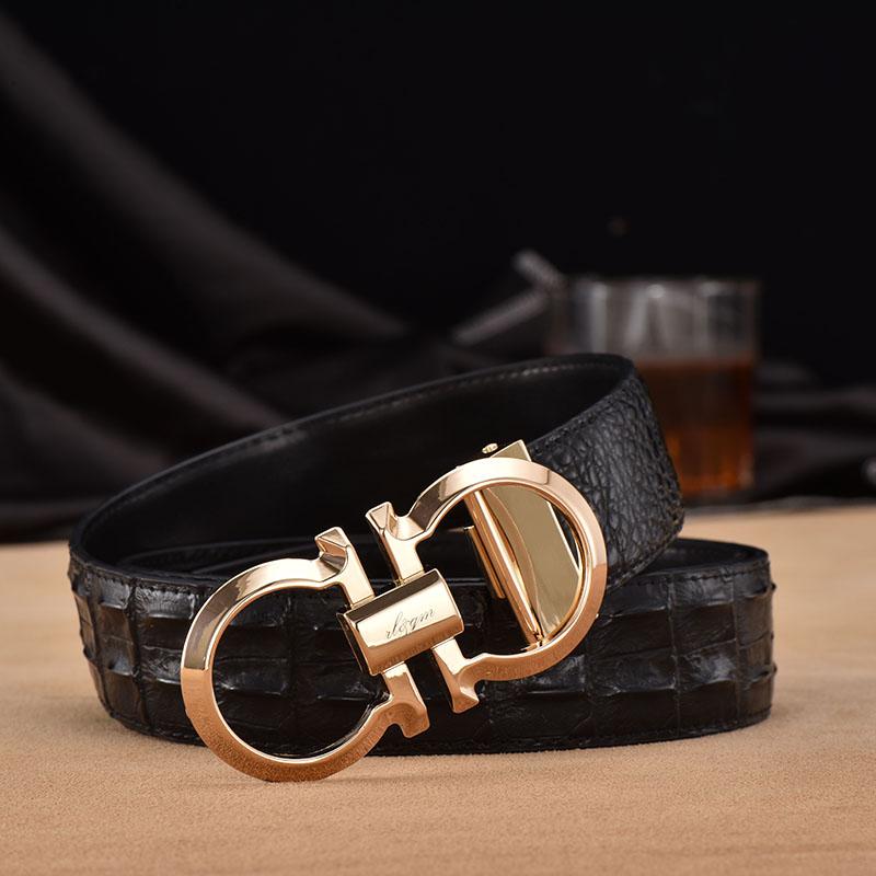 Cinturón de cuero de los hombres de moda joven cinturón de hebilla (párrafo 8 del flujo comercial de ocio marca cinturón masculino